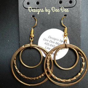 Gold Tone Hooks & Hoops Earrings